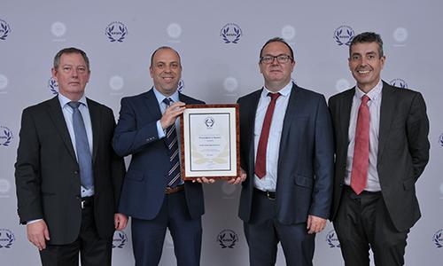 Kirby receives RoSPA President's Award for 10 Consecutive Gold Awards.